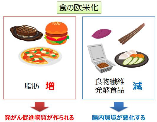 の 欧米 化 食